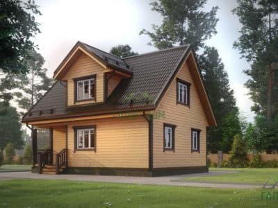 Картинка (2) Дом из бруса с мансардой 7 на 9 (ДБ-6)