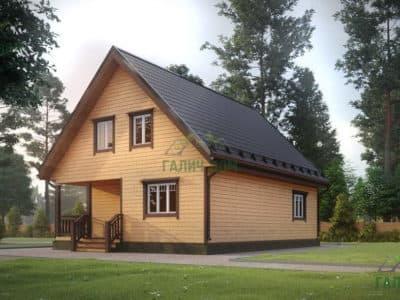 Картинка (2) Дом из бруса 8 на 11 (ДБ-16)