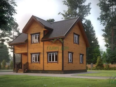 Картинка (2) Брусовой дом 7х9 с кукушкой (ДБ-180)