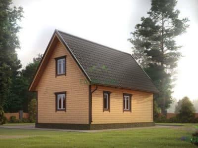 Картинка (3) Проект дома из бруса 7х8 с мансардой (ДБ-21)