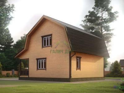 Картинка (3) Проект дома 7х8 с мансардой (ДБ-10)