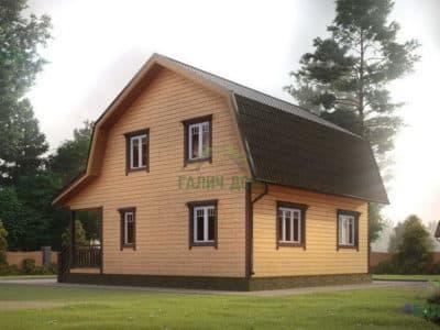 Картинка (3) Проект дома 8х9 с террасой (ДБ-12)