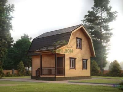 ДБ-7 | Дом из бруса 6 на 6 с ломаной крышей