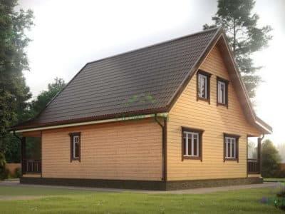 Картинка (3) Проект дома из бруса 8х9 (ДБ-13)