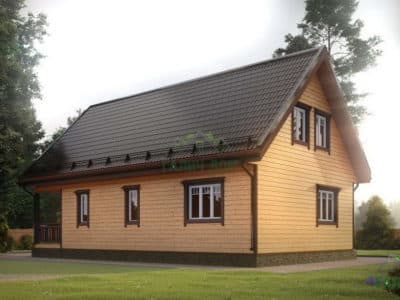 Картинка (3) Проект дома 7 на 12 с мансардой (ДБ-15)