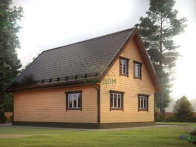 Картинка (3) Проект дома 8 на 11 с мансардой (ДБ-16)