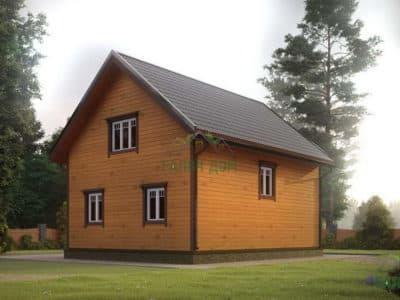 Картинка (3) Брусовой дом 7х9 с террасой (ДБ-180)