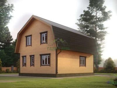 Картинка (3) Проект дома из бруса 7х9 (ДБ-8)