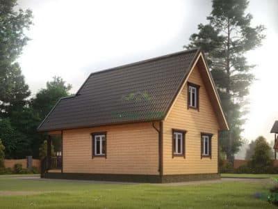 Картинка (3) Проект дома 6х8 с мансардой (ДБ-9)