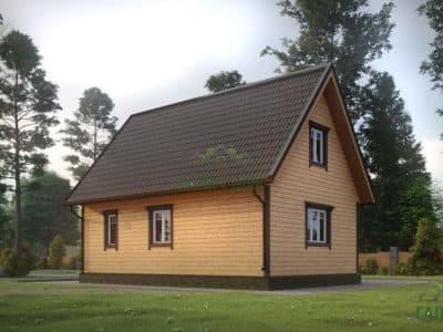 Картинка (4) Проект дома из бруса 7х8 (ДБ-21)