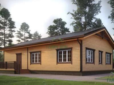 Картинка (3) Одноэтажный дом 11 на 13 (ДБ-4)