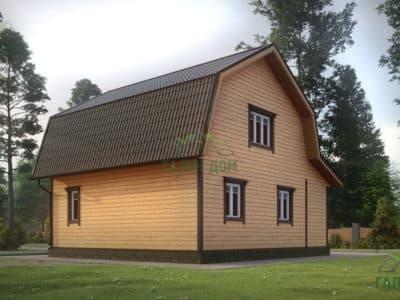Картинка (4) Проект дома из бруса 7х8 (ДБ-10)