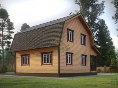 Картинка (4) Проект дома из бруса 8х9 (ДБ-12)