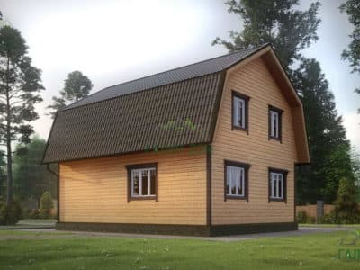 Картинка (4) Проект дачного дома 7х9 с мансардой (ДБ-8)