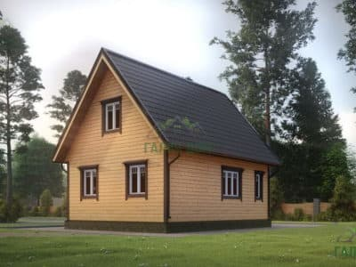 Картинка (4) Проект дома из бруса 6х8 (ДБ-9)