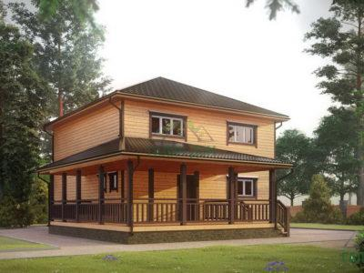 ДБ-192 | Двухэтажный дом из бруса 9х13