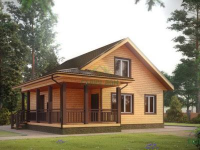 ДБ-195 | Дом из бруса с мансардой 10х11