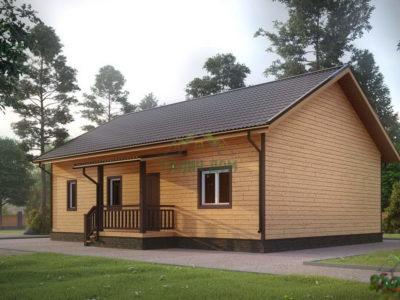 ДБ-61 | Деревянный дом из бруса 9х12