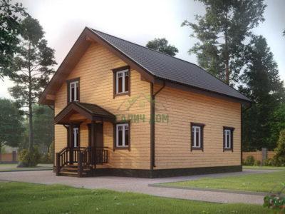 ДБ-106 | Загородный дом из бруса 8х9