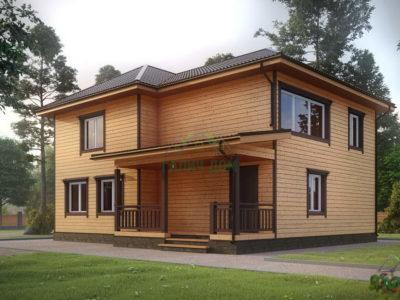 ДБ-121 | Двухэтажный дом из бруса 9 на 12