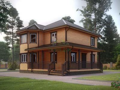 ДБ-71 | Деревянный дом из бруса 10 на 10