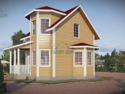Картинка (2) Дачный дом из бруса 8х7 (ДБ-41)