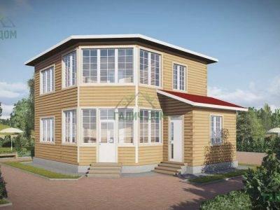 Картинка (2) Двухэтажный дом из бруса 8х8 (ДБ-69)