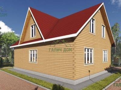 Картинка (3) Проект дома из бруса 9х12 (ДБ-96)