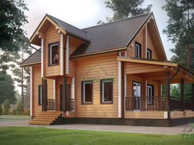 ДБ-184 | Загородный дом из профилированного бруса 7х11