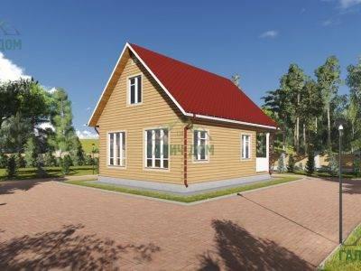 Картинка (3) Садовый дом 7х9 с мансардой (ДБ-87)