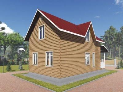Картинка (3) Брусовой дом размером 6х11 (ДБ-89)