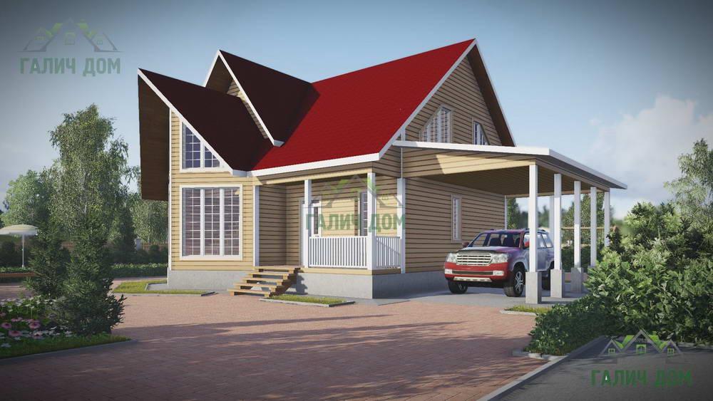 Картинка (1) Дом из бруса 11 на 11 (ДБ-60)