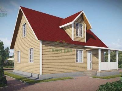Картинка (3) Проект дома 9 на 10 с кукушкой и мансардой (ДБ-109)