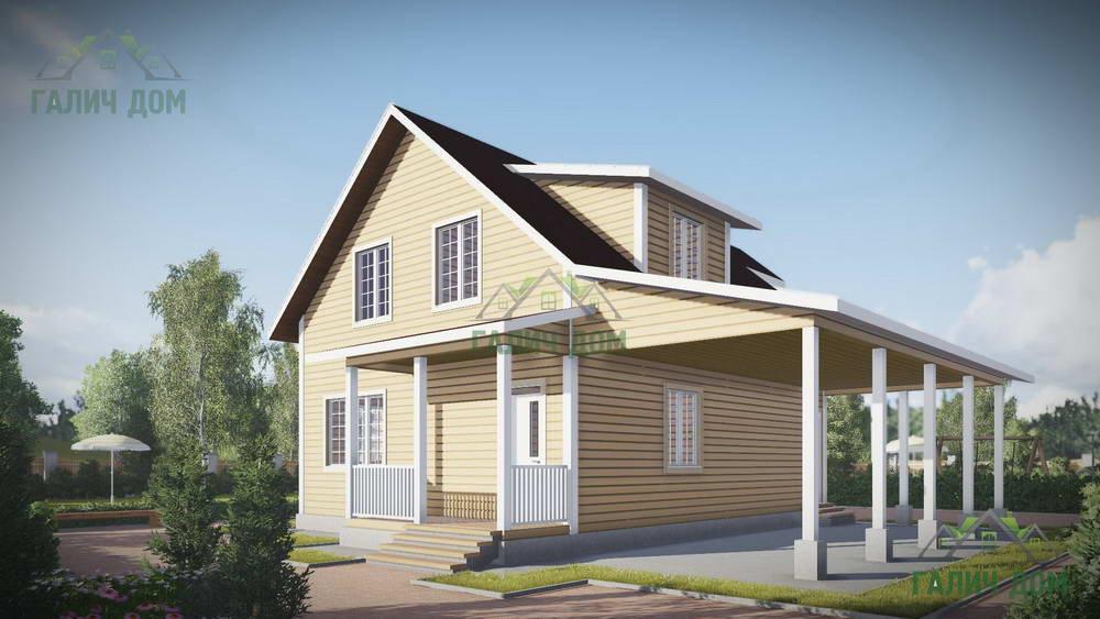 Картинка (1) Дом из бруса 12 на 13 (ДБ-55)
