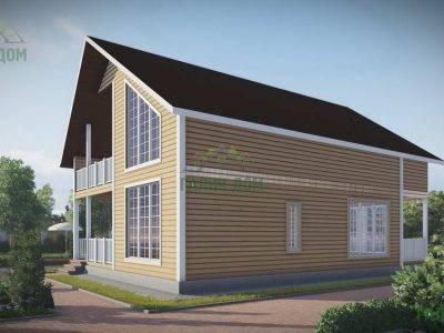 Картинка (2) Дачный дом из бруса 9х12 (ДБ-56)