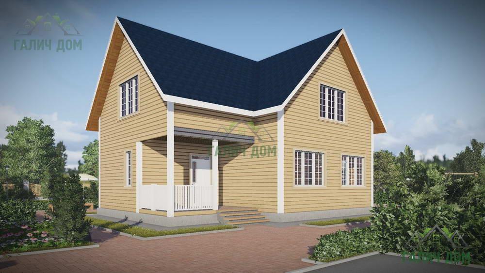 Картинка (1) Дачный дом из бруса 10х10 (ДБ-57)