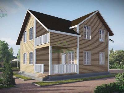 ДБ-59 | Дом из бруса 9х9 с балконом