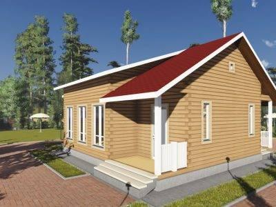 Картинка (2) Одноэтажный дом 9 на 12 (ДБ-93)