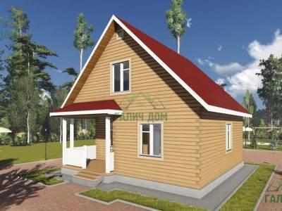 Картинка (2) Брусовой дом 8х9 (ДБ-95)