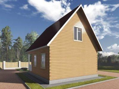Картинка (2) Брусовой дом 7х8 (ДБ-100)