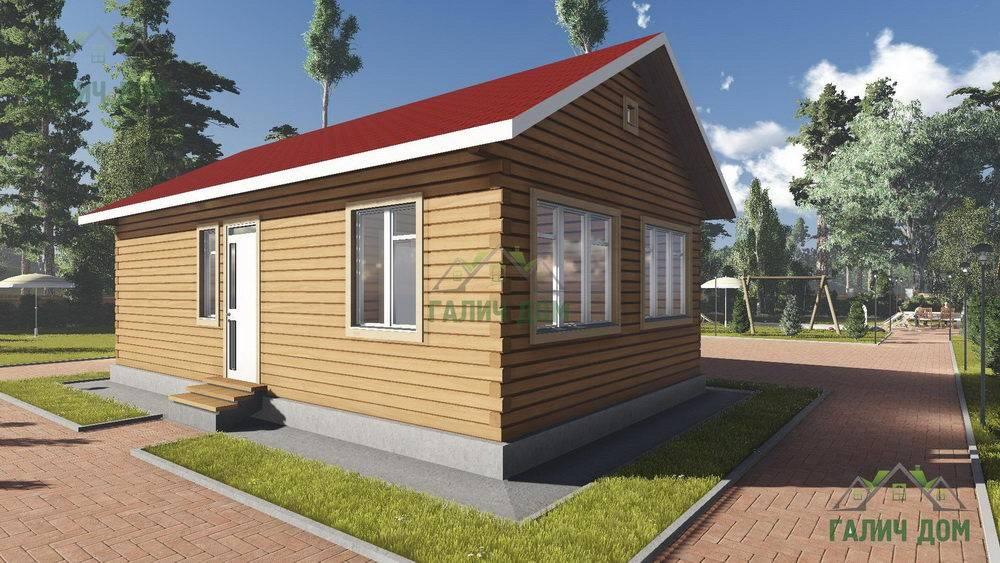 Картинка (1) Одноэтажный дом 6х10 из бруса (ДБ-103)