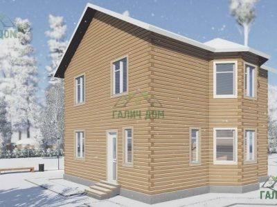 ДБ-108 | Двухэтажный дом из бруса 9 на 9