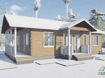 ДБ-110 | Загородный одноэтажный дом 8х13 из бруса