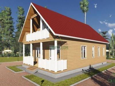 Картинка (2) Дом из бруса 7 на 12 (ДБ-15)