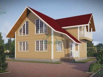 ДБ-45 | Дом из бруса 9х11 с балконом