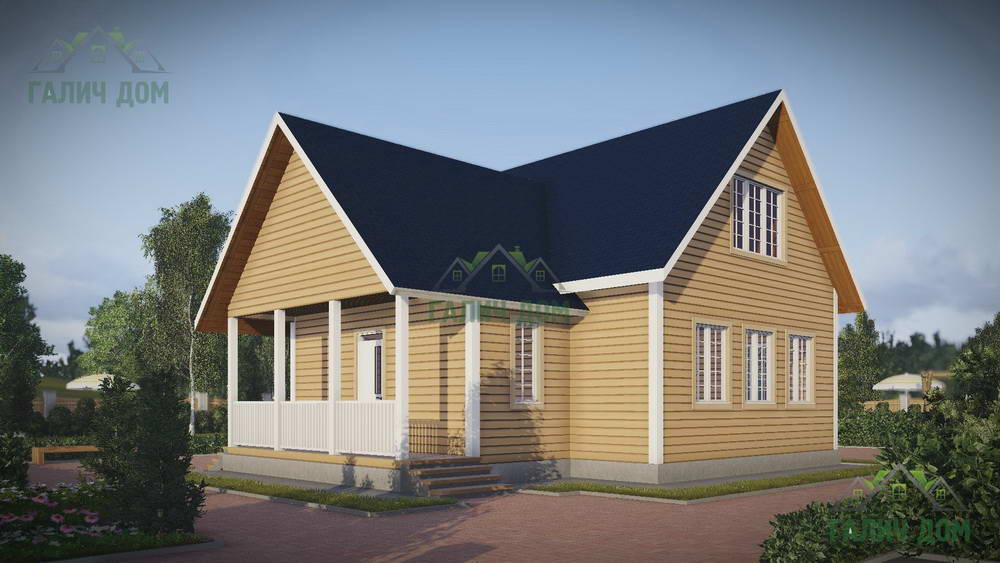 Картинка (1) Дом из бруса 10х11 с мансардой (ДБ-46)