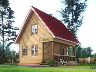 ДБ-158 | Дом из бруса 6х6 с мансардой