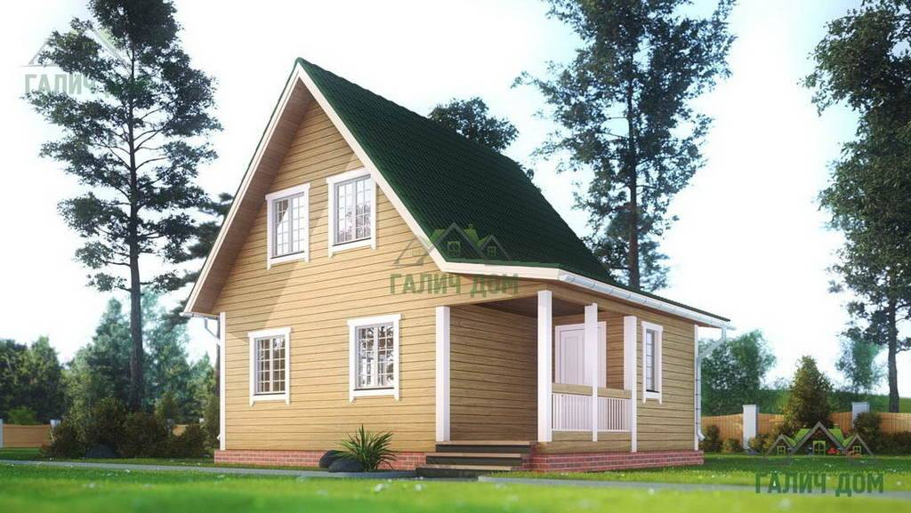 Картинка (1) – Дом из профилированного бруса 6х8