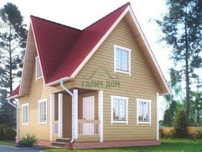 ДБ-166 | Деревянный дом 6х8
