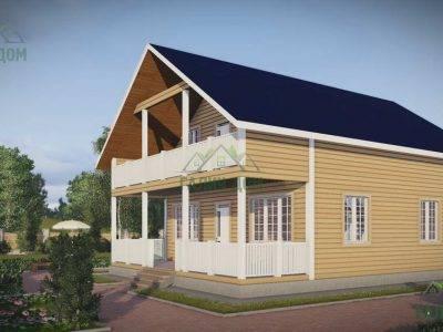 Картинка (2) Дом из бруса 8х12 с террасой (ДБ-48)